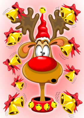 reindeer catoon character funny humorous bells christmas christmasreindeer funreindeer cute cutereindeer reindeercartoon amazed christmasbells bellsalarms surprised dazzled santaclaus animal funnyface amazedface cartooncharacter christmascharacter