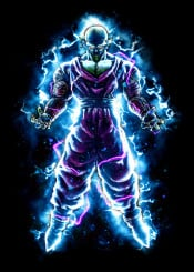 anime manga power energy dbz piccolo super dragonballz powerful alien cartoon japan japanese fantasy painting warrior martialarts fighter hero lightning