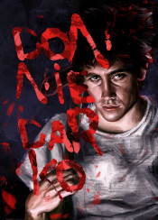 donniedarko movie film alternative poster icon legend red blood horror science fiction axe psychological boy night dream vision frank time