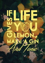lemons fruit drink alcohol gin quote life peace inspirational nature tree