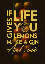 lemons life quote kitchen gin vodka tree