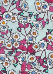 floral flower flowers daisy daisies blue pink orange nature teal texture grunge vintage pattern design