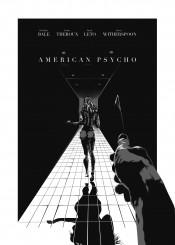 american psycho bretiston elis movie film poster noir comic horror thriller nude girl sexy