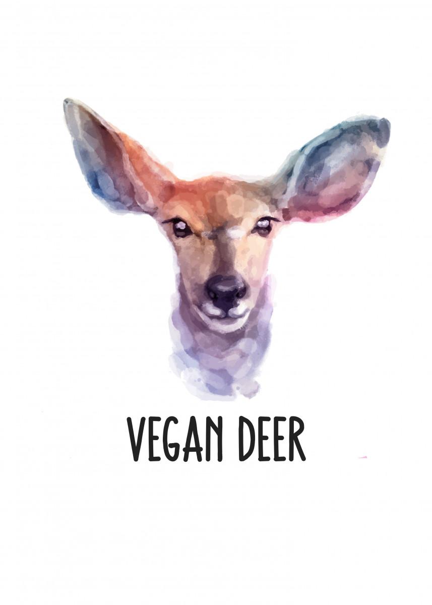 A vegan statement, Vegan Dear - Deer. 231705