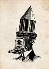 collage funny funart surreal camera artist photographer vintage retro classic