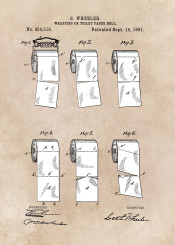 paper roll toilet bathroom wrapping patent art