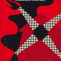 No713 My Moulin Rouge minimal movie poster  A poet falls for a beautiful courtesan whom a jealous duke covets.  Director: Baz Luhrmann Stars: Nicole Kidman, Ewan McGregor, John Leguizamo