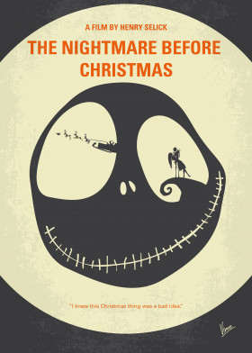 no712 my the nightmare before christmas minimal movie p - The Nightmare Before Christmas Poster
