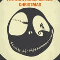 No712 My The Nightmare Before Christmas minimal movie poster  Jack Skellington, king of Halloween Town, discovers Christmas Town, but doesn't quite understand the concept.  Director: Henry Selick Stars: Danny Elfman, Chris Sarandon, Catherine O'Hara