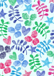 flowers floral colorful summer leaf nature palm tree forest abstract painting watercolor ink pattern illustration tropical