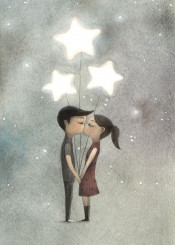 love kiss balloon stars romantic