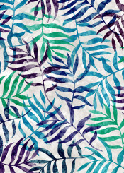 tropical leaf pattern watercolor palm tree plant background green decoration floral colorful painting illustration