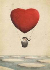 love balloon kiss