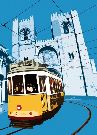 nuno martinho Lisbon colours   Displate Prints on Steel