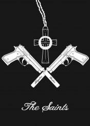 the boondock saints cross religion 9mm pistole beretta gun crossed cult fanart movie brothers god family