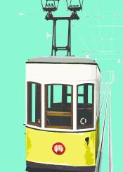 lisbon popart photography tram