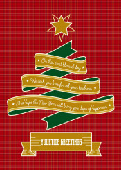 christmas tree ribbon yuletide greetings star decoration red plaid merry christmassy traditional gold on this most blessed day wish you love for all your kindness new year days of happiness typography happy holidays best wishes fancy banner warm holiday seasonal green