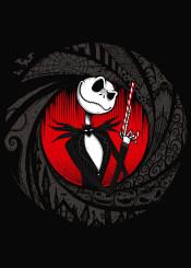skellington skull nigthmare before christmas jack bond james nerd