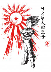 dragon ball dbz vegeta goku rising sun japan art style kanji ssj
