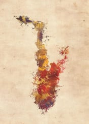 music sax saxophone instrument instruments decor
