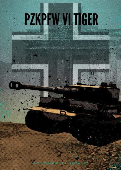 Rykker o7 Achtung Panzer   Displate Prints on Steel
