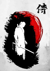 samurai lone japanese warrior fighter bushido katana sword armor edo japan cut ronin budo asian