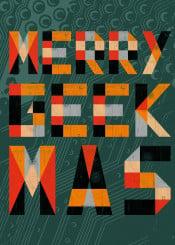 geometric design typography textures christmas merrygeekmas geek