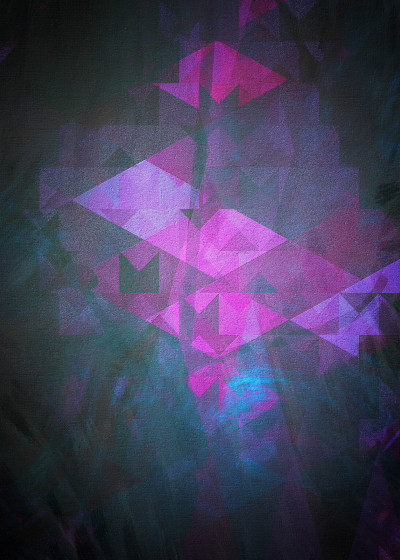 Mimulux Patricia No Geometric Abstract Art   Displate Prints on Steel