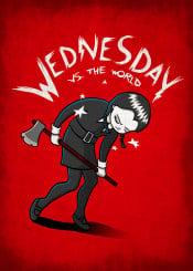 comic scott pilgrim wednesday addams family rock music movie mashup