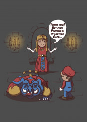 wrong castle mario ganon ganondorf zelda videogames funny humor gaming gamer gamers video games toad another
