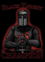 humor blackknight black knight monty python holy grail flesh wound tis but a scratch phython arthur swruberry flying circus