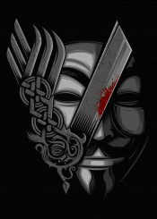 v revenge viking vikings remember vendetta face haker blood black
