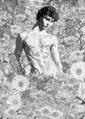 illustration sketch drawing lineart linedrawing nature flowers garden figurativeart landscape wilderness blackandwhite digitalart