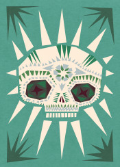 skull sugarskull mexico green mancave