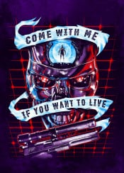 terminator robots movies arnold guns 80s pop art poster