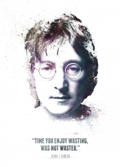 john lennon musician icon iconic legend legendary swav cembrzynski collection quote time wasted wasting not celebrity