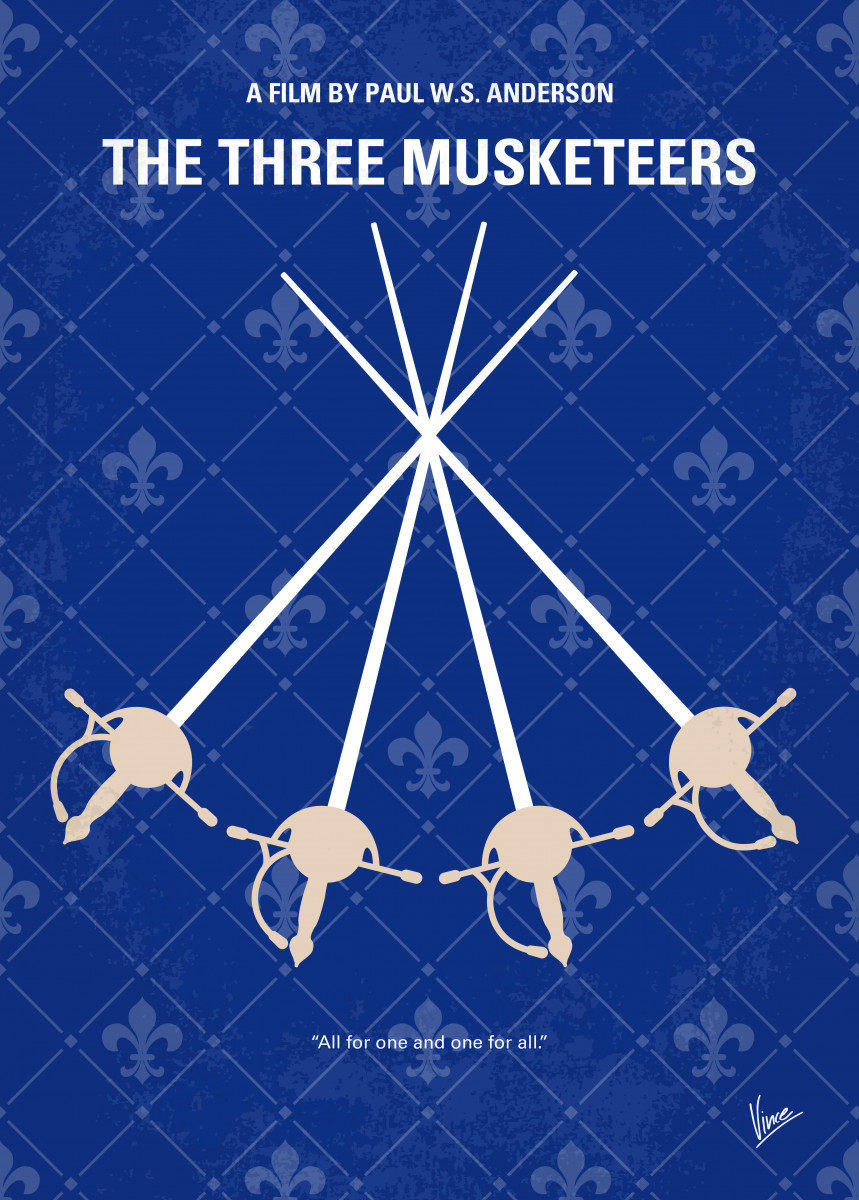 No724 My The Three Musketeers minimal movie poster The.