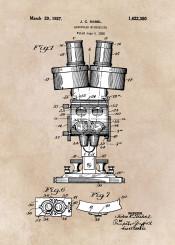 patent art biology home decor microscope science