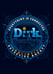 dirk gentlys holistic detective cat dog paranoia connected nerd future traveler tv serie ciberpunnk