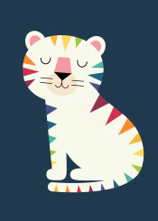 tiger gene dna beautiful rainbow cute love cool special