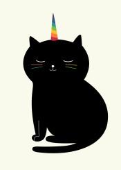 cat unicorn caticorn rainbow magic cute love cool