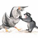 Goose VS Raccoon
