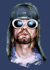 man nirvana kurtcobain grunge music icon face head beard glasses star rock singer alternative