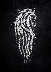 lord of the rings rohan horse white black flag splat splatter symbol emblem logo theoden