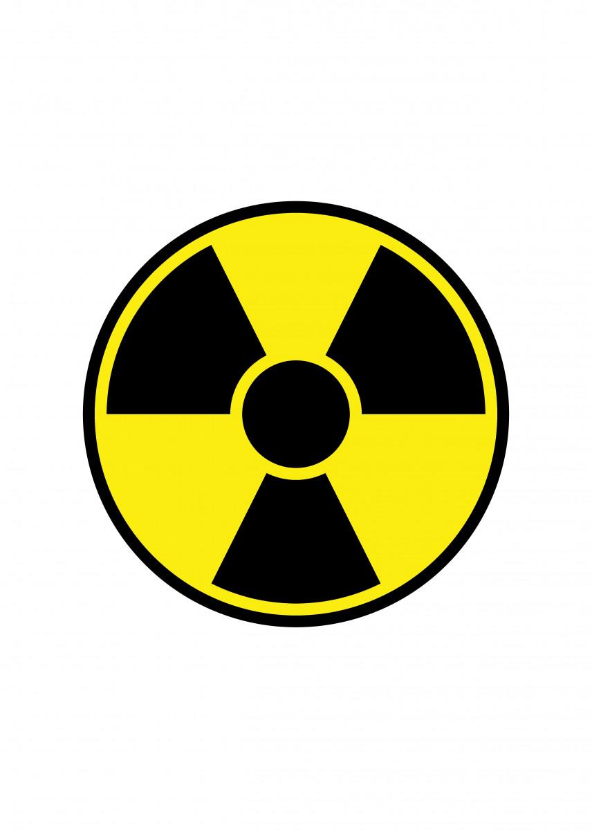 Radiation Warning Sign Round radiation warning sign on white backgroun