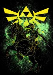 zelda link triforce hyrule epona videogames games game gaming gamer geek nerd art colors illustration