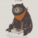 bears love fresh sushi.