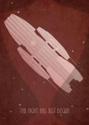 battlestar galactica art deco sci fi scifi red
