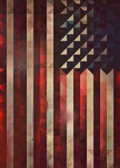flag america geometric geometry patriotic 1776