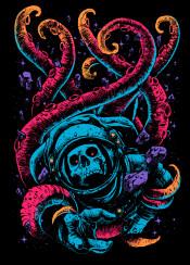 skull astronaut space